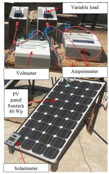 Experimental PV bench
